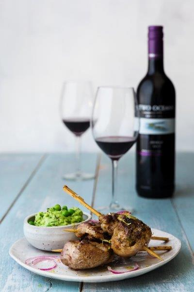 Two Oceans with lamb lollipops and pea pesto 01 (LR)