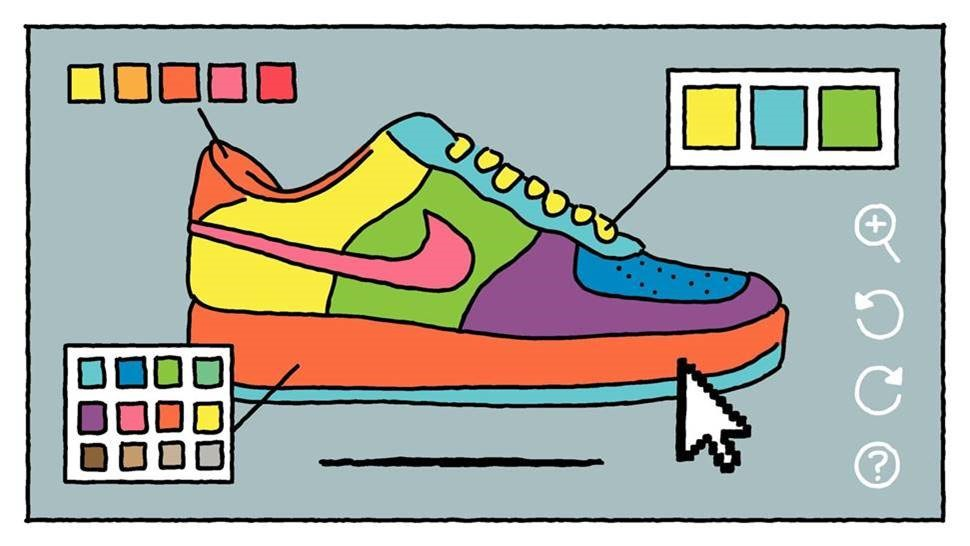 At the same time, consumers turn collaborators with NikeiD.