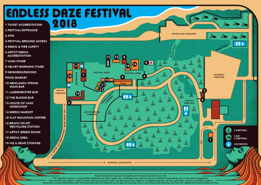 Endless Daze Map